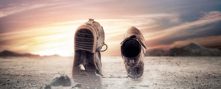アフリカでの靴屋のセールスマンのイメージ画像